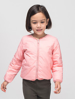 Girl's Casual/Daily Solid Blouse / Down & Cotton PaddedNylon Winter / Spring / Fall Pink / Gray