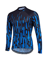 Sports Cycling Jersey Men's Long Sleeve Bike Breathable / Back Pocket / Sweat-wicking / Comfortable / Lightweight Materials JerseyCoolmax