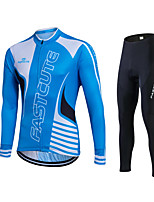 Fastcute® Fahrradtrikots mit Fahrradhosen Damen / Herrn / Unisex Langärmelige FahhradAtmungsaktiv / Rasche Trocknung /