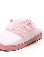 Unisex Slippers & Flip-Flops Winter Slippers Customized Materials Casual Flat Heel Others Black / Pink / Red