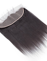10inch to 20inch Black 4x13 Closure Straight Human Hair Closure Medium Brown Swiss Lace about 50g gram Average Cap Size