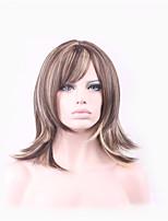 perruques dames de mode longues et chaudes de cheveux de nylon brun