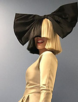 моды короткие прямые белые черный цвет ломбера Afro женщины косплей синтетические парики