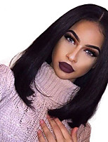 8A Brazilian Short Bob Human Hair Wigs Virgin Short Straight Full Lace Wig Human Hair Wigs With Baby Hair