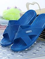 Damen-Slippers & Flip-Flops-Lässig-PVC-Flacher AbsatzBlau Rot
