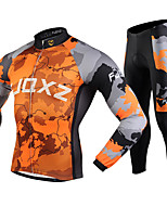 FJQXZ Bike/Cycling Jersey  Pants/JerseyTights / Clothing Sets/Suits Men's Long / Windproof / Anti-skidding / 3D Pad /