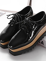 Women's Oxfords Fall Platform Leather Casual Platform Others Black Others
