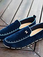 Men's Loafers & Slip-Ons Spring / Summer Comfort Canvas Casual Flat Heel Split Joint Black / Blue /