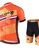 Miloto® Maillot et Cuissard de Cyclisme Homme Manches courtes VéloRespirable / Séchage rapide / Perméabilité à l'humidité / Zipper YKK /