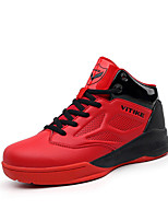 Boy's Athletic Shoes PU Athletic Flat Heel Lace-up Blue / Red Basketball EU33-38
