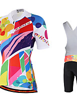 Miloto® Bike/Cycling Bib Shorts / Jersey + Bib Shorts / Sweatshirt / Jersey Women's Short SleeveBreathable / Moisture