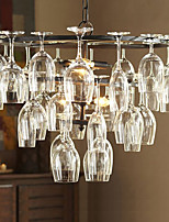E14 Bulb Base Vintage Pendant Lights with 4 Lights in Wine Glass Feature(Wine Glass NOT Included) AC220-240V