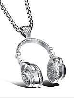 Titanium necklace pendant headset for men