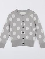 Girl's Casual/Daily Polka Dot Sweater & CardiganCotton Fall Gray