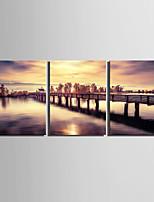 Холст Set Пейзаж Европейский стиль,3 панели Холст Вертикальная Печать Искусство Декор стены For Украшение дома
