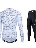 Fastcute® Calça com Camisa para Ciclismo Mulheres / Homens / Unissexo Manga Comprida MotoRespirável / Secagem Rápida / Permeável á