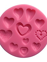 Heart Cupcake Decorations Cake Silicone Mold  SM-456