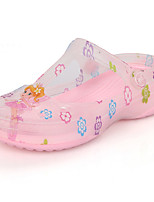 Girl's Summer Round Toe / Sandals PVC Casual Flat Heel Bowknot Pink / White Others