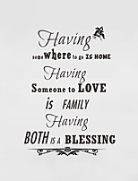 Wall Stickers Wall Decals Style Having English Words & Quotes PVC Wall Stickers