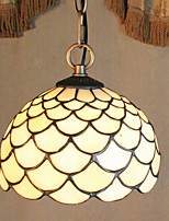 25W Pendant Light   Tiffany / Vintage / Country Painting Feature for Mini Style Metal Bedroom / Dining Room / Entry