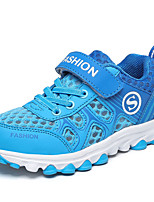 Boy's Sneakers Spring Fall Comfort Tulle Outdoor Athletic Flat Heel Lace-up Blue Green