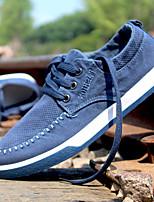 גברים-נעלי ספורט-קנבס-נוחות-כחול אפור חאקי-ספורט-עקב שטוח