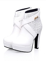 Women's Heels Fall / Winter Heels PU Outdoor / Dress / Casual Chunky Heel Others Black / White Others