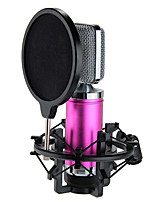 Professional Wired Condenser Sound Microphone Mic Recording PC Laptop Fushcia