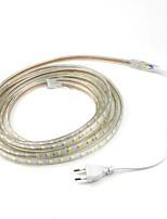 6m / 1pcs 220v 5050 ha condotto la luce di natale striscia corda nastro flessibile esterna del giardino impermeabile lightingeu esterno