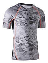 Carrera Camiseta / Sudadera Hombres Mangas cortas Transpirable / Secado rápido / Bandas Reflectantes / Reductor del Sudor / CómodoElastán