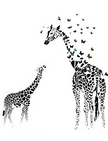 Creative Giraffe Butterfly Mural Wall Stickers Glass Stickers Living Room Bedroom Sofa Backdrop Giraffe Stickers