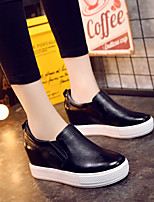Women's Loafers & Slip-Ons Spring / Summer / Fall / Winter Comfort Leather Outdoor / Casual Flat Heel Others Black