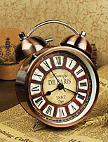 Alarm Clock with Matel Case/Vintage Style/Light