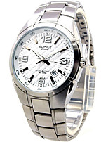 CASIO Luminous Quartz Men's Watch with White PlateStrip and Pointer EF-125D-7A