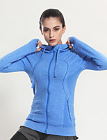 Running Sweatshirt / Tops Women's Long Sleeve Breathable / Quick Dry / Lightweight Materials Chinlon Yoga