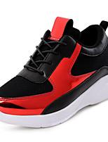Women's Sneakers Spring / Fall Comfort Fabric Casual Flat Heel  Red / Gold Sneaker