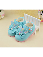 Girl's Flats Fall Comfort PU Casual Flat Heel Bowknot Blue White Others