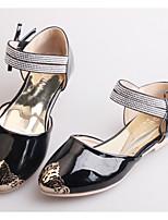 Girl's Flats Spring / Summer / Fall Flats Microfibre Casual Flat Heel Crystal / Bowknot / Metallic toe
