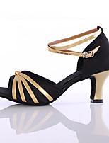 Customizable Women's Dance Shoes Satin / Leatherette Satin / Leatherette Latin / Dance Sneakers Heels Cuban Heel Indoor