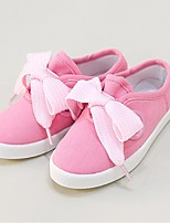 Girl's Loafers & Slip-Ons Spring / Fall Comfort Canvas Casual Flat Heel Bowknot Pink / Gray / Light Green Walking