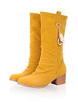 Women's Boots Spring / Fall / Winter Fashion Boots Leatherette / Casual Chunky Heel Others Blue / Yellow / Green / Red