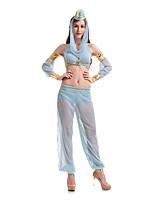 Costumes Plus de costumes Halloween Bleu Ciel Couleur Pleine Térylène Haut / Jupe / Plus d'accessoires