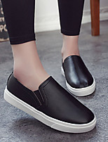Women's Loafers & Slip-Ons Spring / Summer / Fall / Winter Comfort PU Outdoor / Casual Flat Heel Others Black