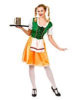 Costumes Plus de costumes Halloween / Fête d'Octobre Vert / Jaune Mosaïque Térylène Robe / Plus d'accessoires