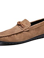 Men's Loafers & Slip-Ons Spring/Summer/Fall / Winter Moccasin Synthetic Office & Career/Casual Flat Heel Brown/Gray