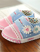 Girl's Sneakers Fall Comfort Canvas Casual Flat Heel Lace-up Pink Others