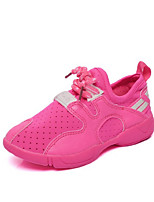 Girl's Flats Spring / Fall Comfort / Round Toe PU Casual Flat Heel Others / Lace-up Green / Pink / White Walking