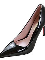 Черный / Красный / Темно-красный / Горчичный-Женский-На каждый день-Лакированная кожа-На шпильке-Удобная обувь-Обувь на каблуках