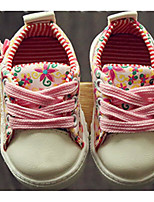 Girl's Sneakers Spring / Fall Comfort Canvas Outdoor Flat Heel Satin Flower Green / Pink Walking