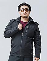 Men's Long Sleeve Casual / Sport / Plus Size JacketNylon Solid Black / Green